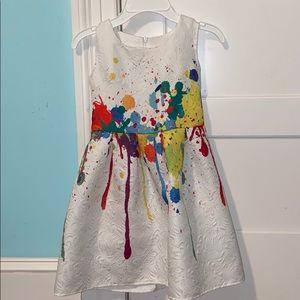 Girls paint splatter dress